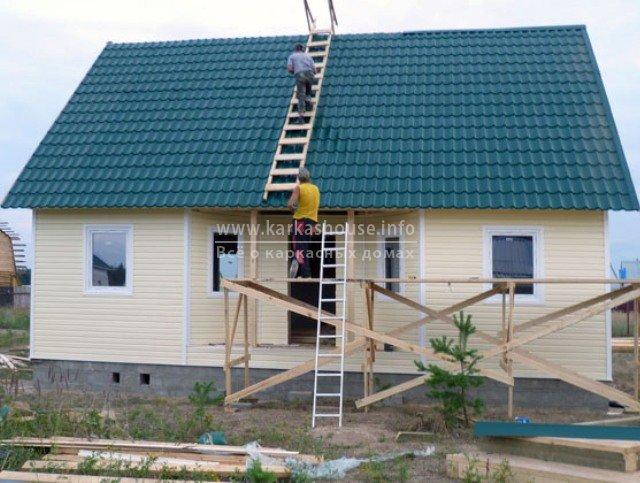 Недорогой одноэтажный каркасный дом своими руками фото 613