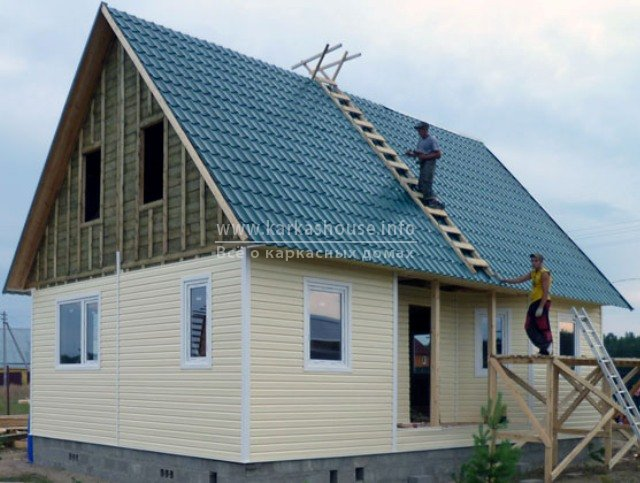 Одноэтажные каркасно щитовые дома под ключ