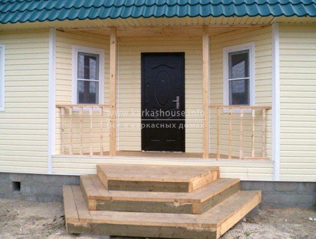 Каркасный одноэтажный деревянный дом под ключ
