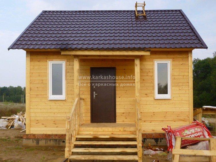 Каркасный дом 6х6 проект одноэтажный