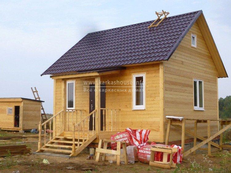 Проекты одноэтажных каркасных домов 6 на 6