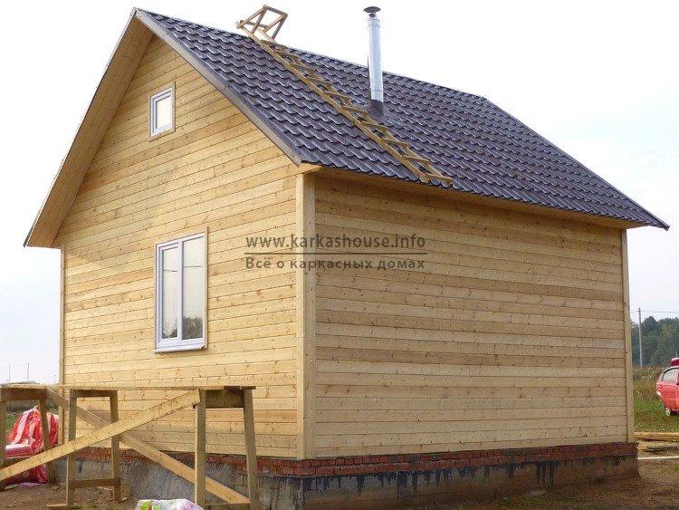 Одноэтажный каркасный дом 6х6 стоимость