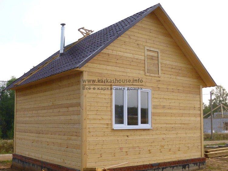 Одноэтажный каркасный дом 6х6 цена