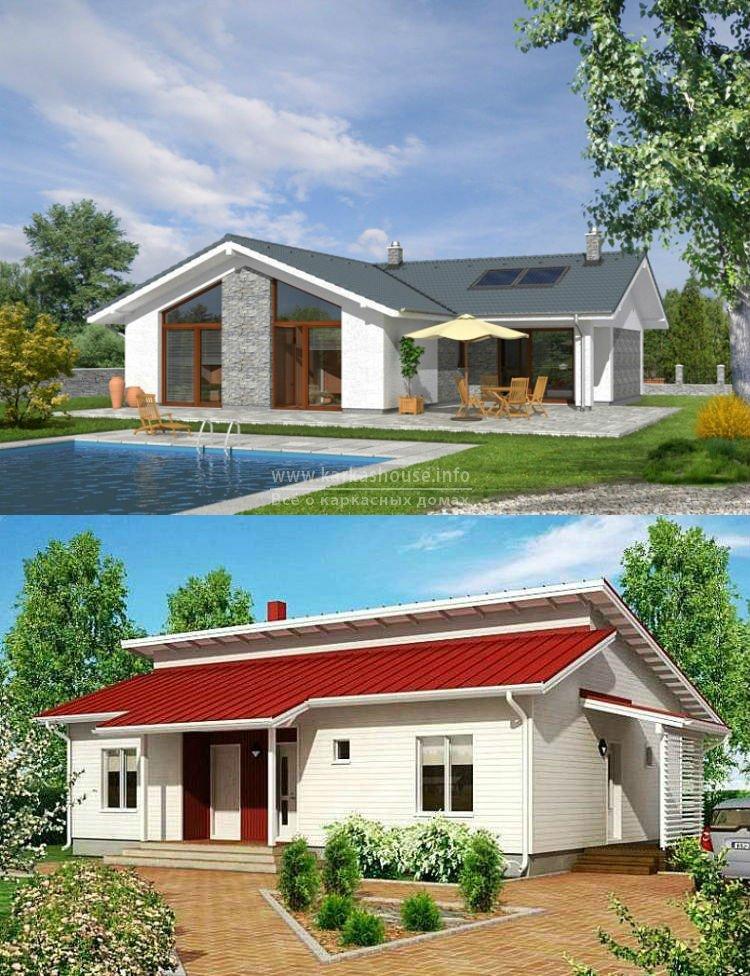 Одноэтажные каркасные дома проекты и цены