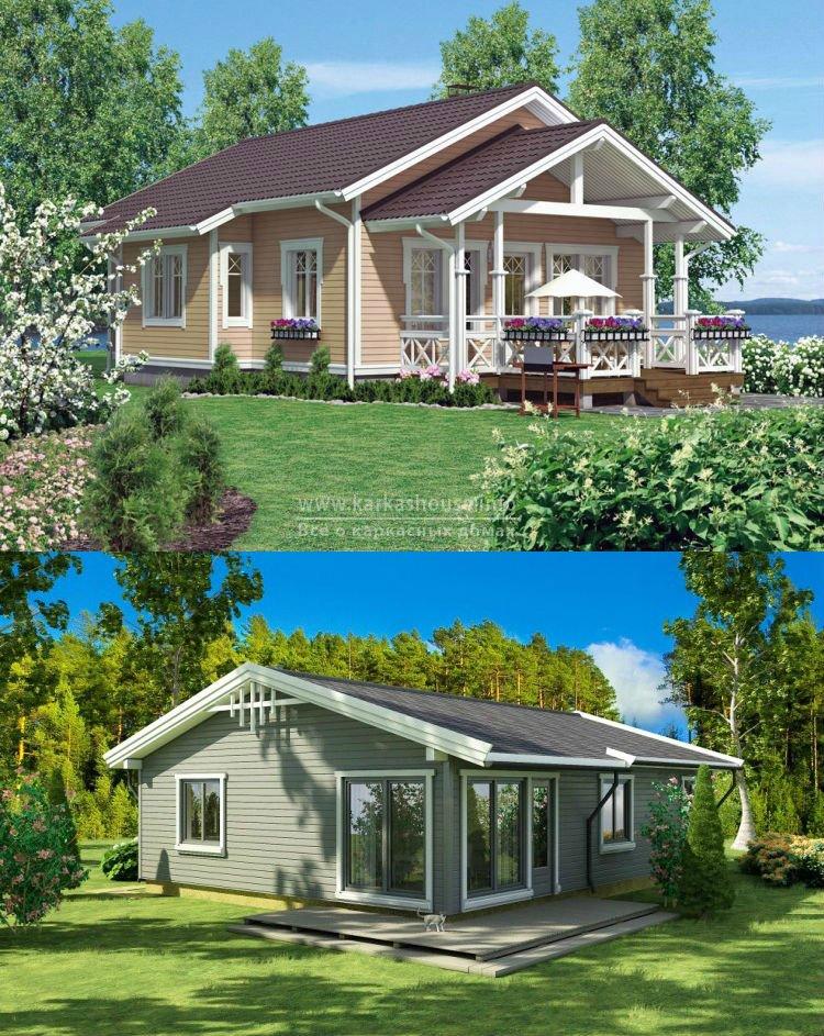 Одноэтажные каркасные дачные дома цены