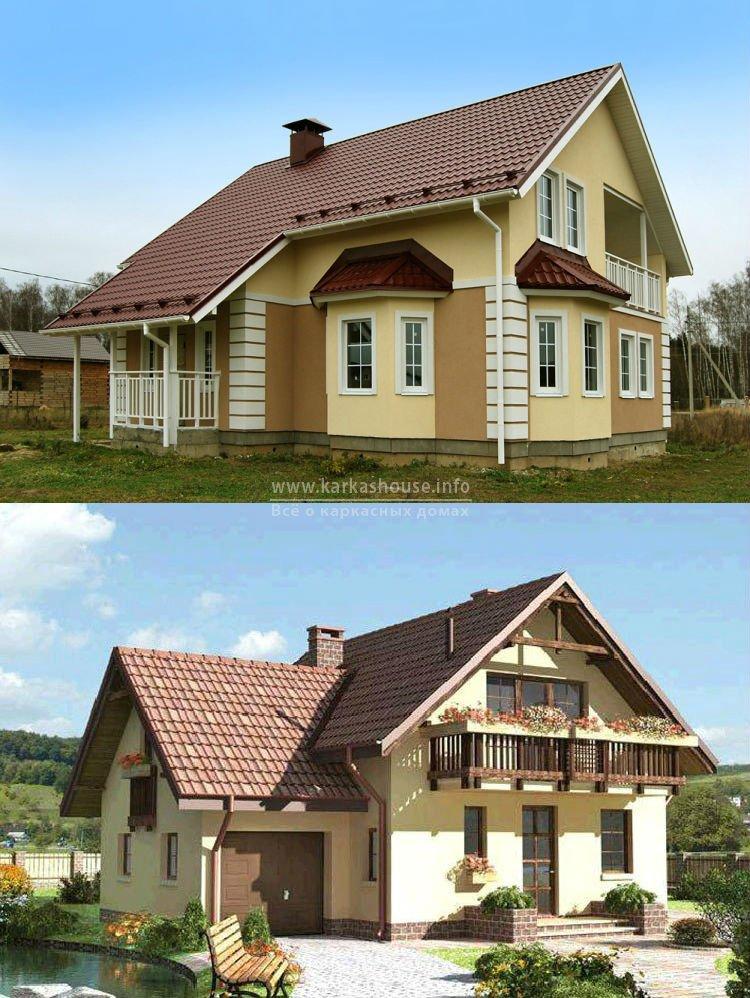 Готовые проекты каркасно щитовых домов