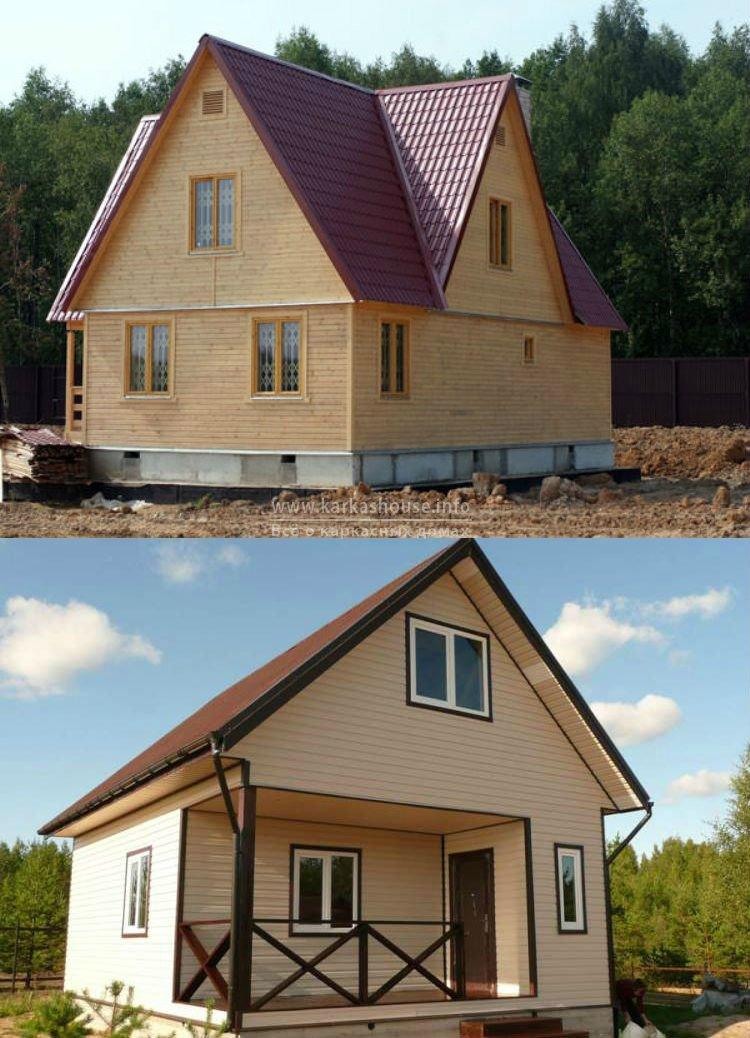 Каркасно щитовые дома проекты фото отчет