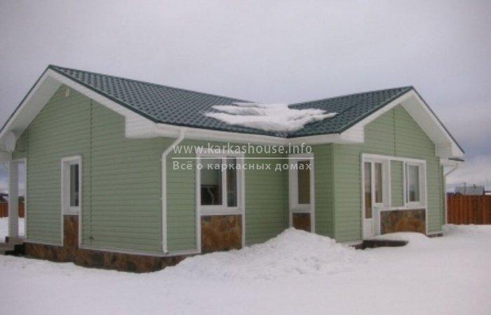Одноэтажные каркасные дома под ключ цены зимой