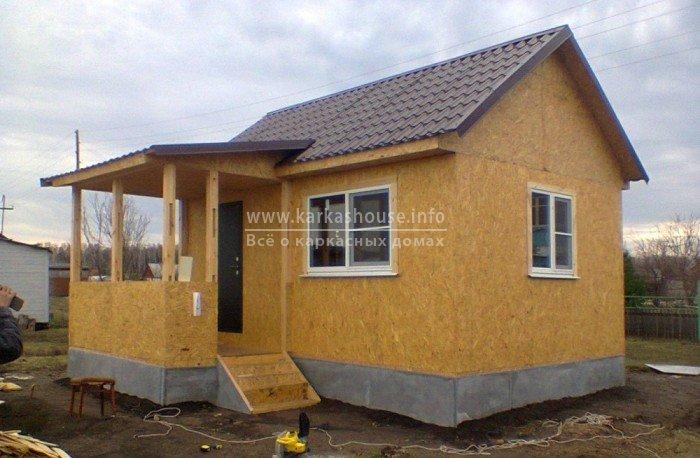 Каркасный щитовой дом для дачи