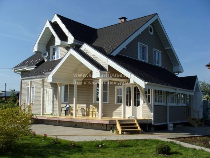 готовый каркасно щитовой дом