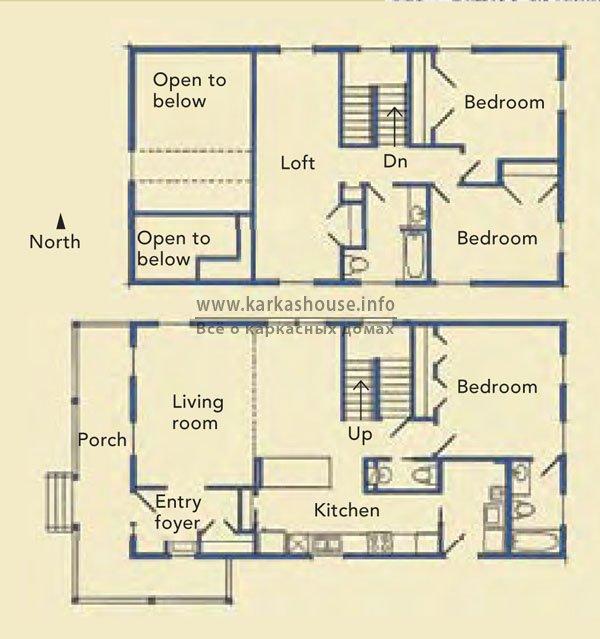 проекты двухэтажного дома бесплатно