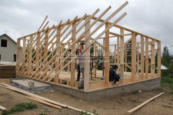 постройка каркасно щитового дома