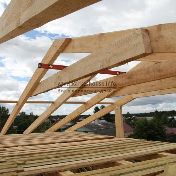 постройка каркасно щитового дома стропила