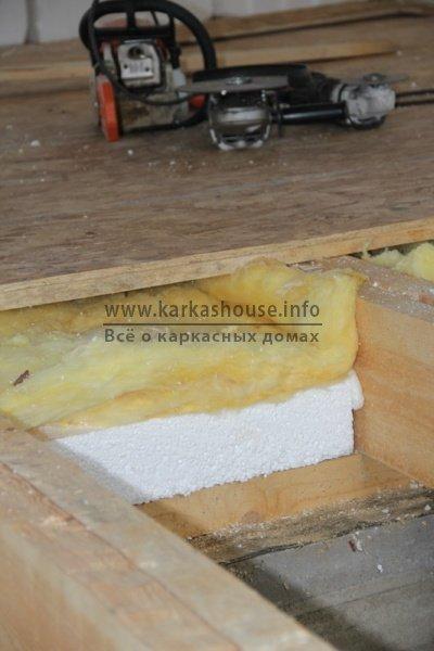 постройка каркасно щитового дома пол