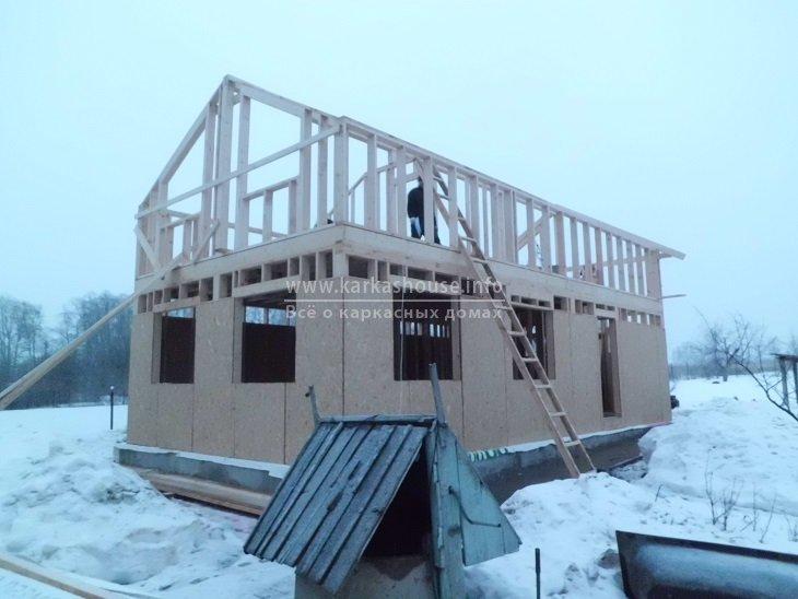 строительство каркасного дома зимой