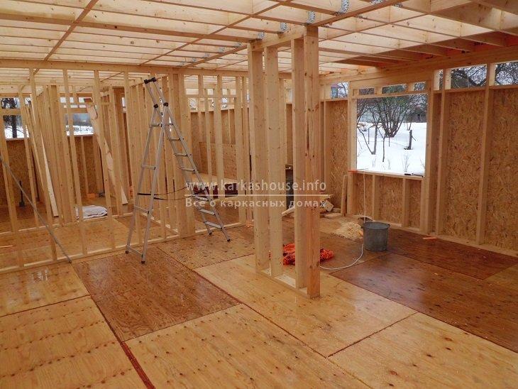 можно ли строить каркасный дом зимой