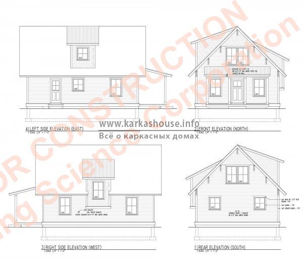бесплатный проект каркасного дома
