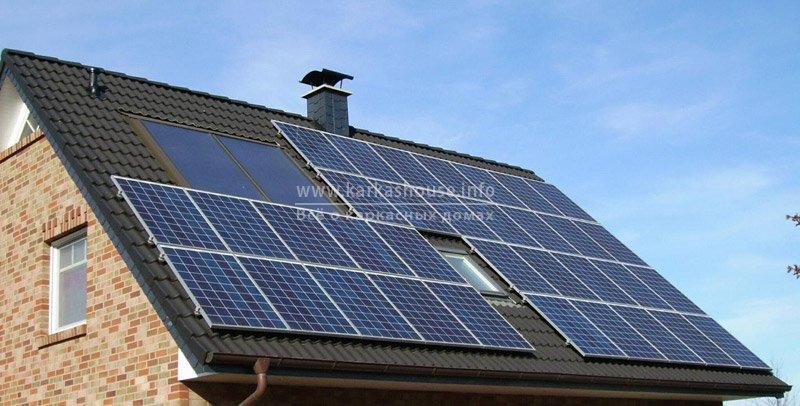 солнечные батарей в часном доме