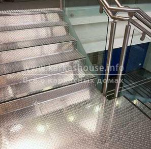 облицовка лестницы рифленым листом