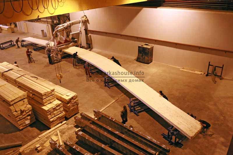 Изготовление длинномера из клееного бруса