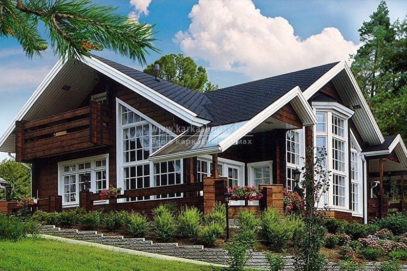 каркасный дом с имитацией бруса
