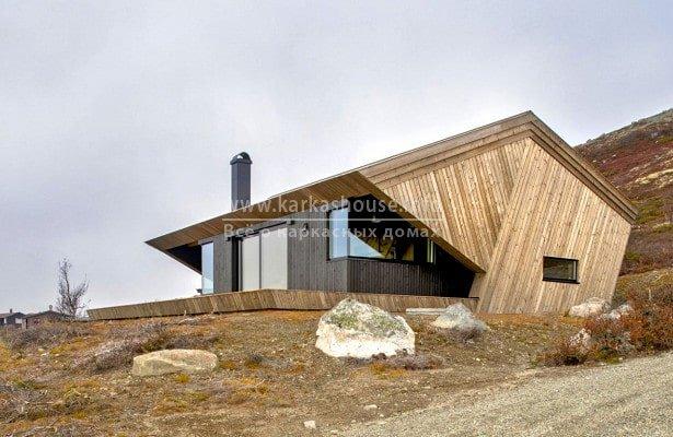 каркасный дом необычной конструкции