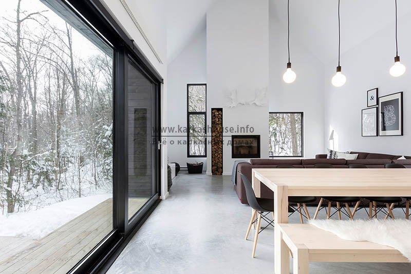 интерьер каркасного дома в скандинавском стиле